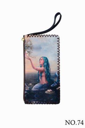 Mermaid-Printed-Wristlet