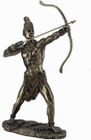 Ochosi-Statue-Divine-Hunter-Warrior-Sculpture-African-Orisha